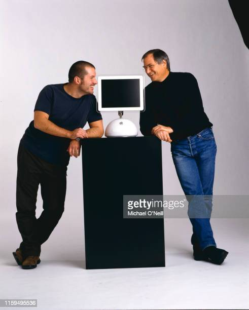Steve Jobs and design chief Jonathan Ive are photographed for Fortune Magazine on December 19 2001