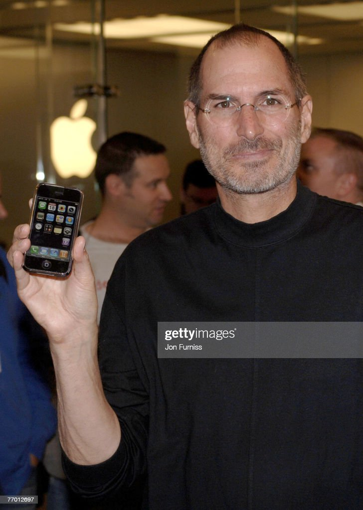 Steve Jobs Apple CEO At The Launch Of Exclusive IPhone On O2