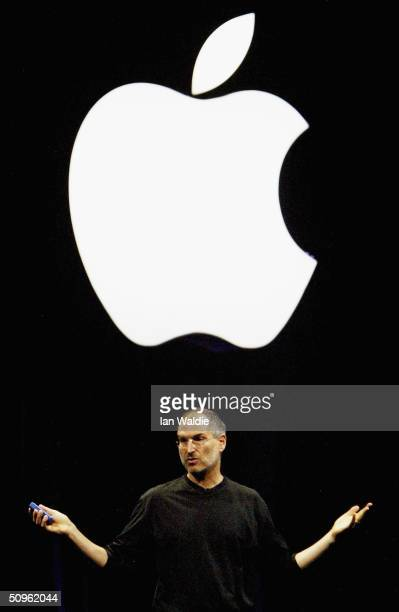 Steve Jobs, Chief Executive Officer of Apple computers, launches iTunes Music Store in the territories of Great Britain, Germany and France, on June...
