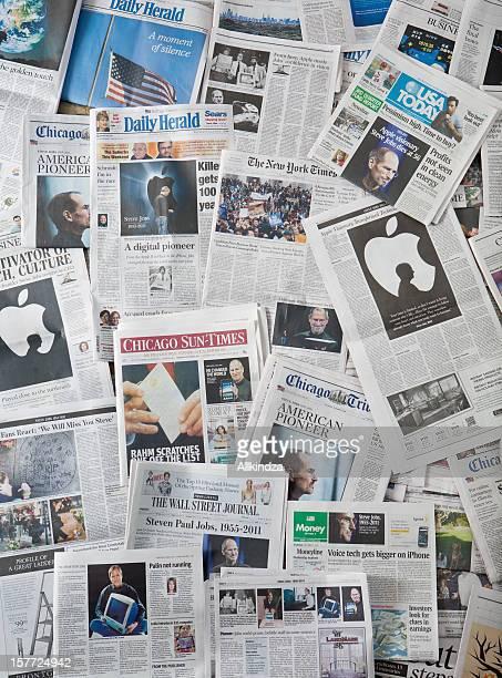 Steve Jobs Death newspaper collage vertical