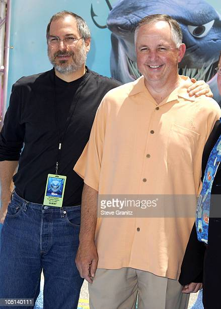 Steve Jobs Dick Cook during 'Finding Nemo' Los Angeles Premiere at El Capitan Theater in Los Angeles California United States