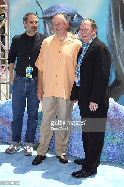 Steve Jobs Dick Cook John Lasseter during 'Finding Nemo' Los Angeles Premiere at El Capitan Theater in Los Angeles California United States