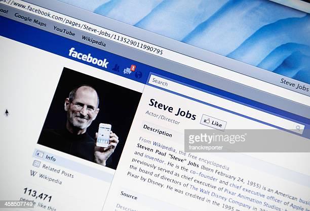 スティーブ・ジョブズの facebook ファンページ - スティーブ・ジョブズ ストックフォトと画像
