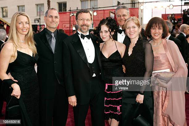 Steve Jobs of Pixar and wife Lauren Ed Catmull of Pixar and daughter Jeannie Rob Cook of Pixar Sarah McArthur and Lois Scali