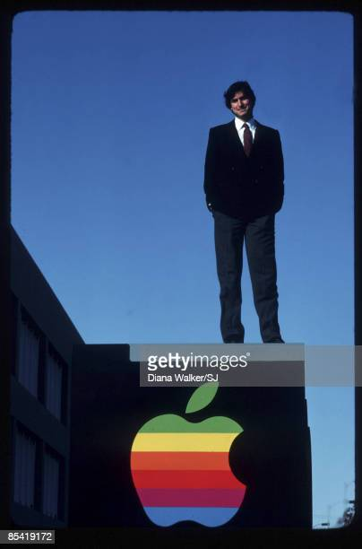 Steve Jobs stands at Apple Computer Co December 15 1982 in Cupertino CA IMAGE PREVIOUSLY A TIME LIFE IMAGE