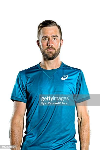 Steve Johnson of the United States poses for portraits during the Australian Open at Melbourne Park on January 12 2018 in Melbourne Australia