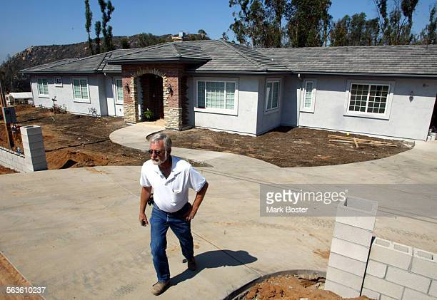 ––Steve Johnson's home was burnt to the ground during the massive wildfires that ripped through the tiny Eastern San Diego County community of Crest...