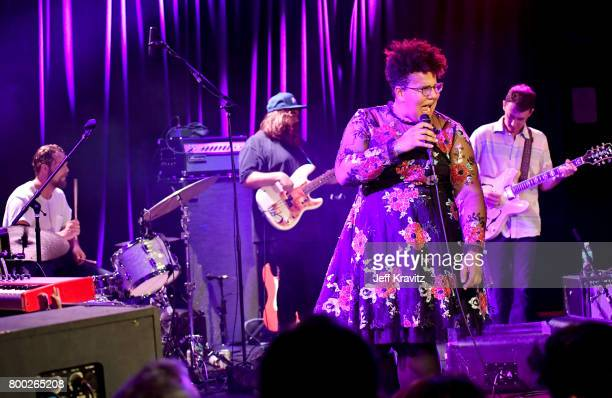 Steve JohnsonZac CockrellBrittany HowardHeath Fogg of the Alabama Shakes perform at the Roxy Theater on June 23 2017 in West Hollywood California