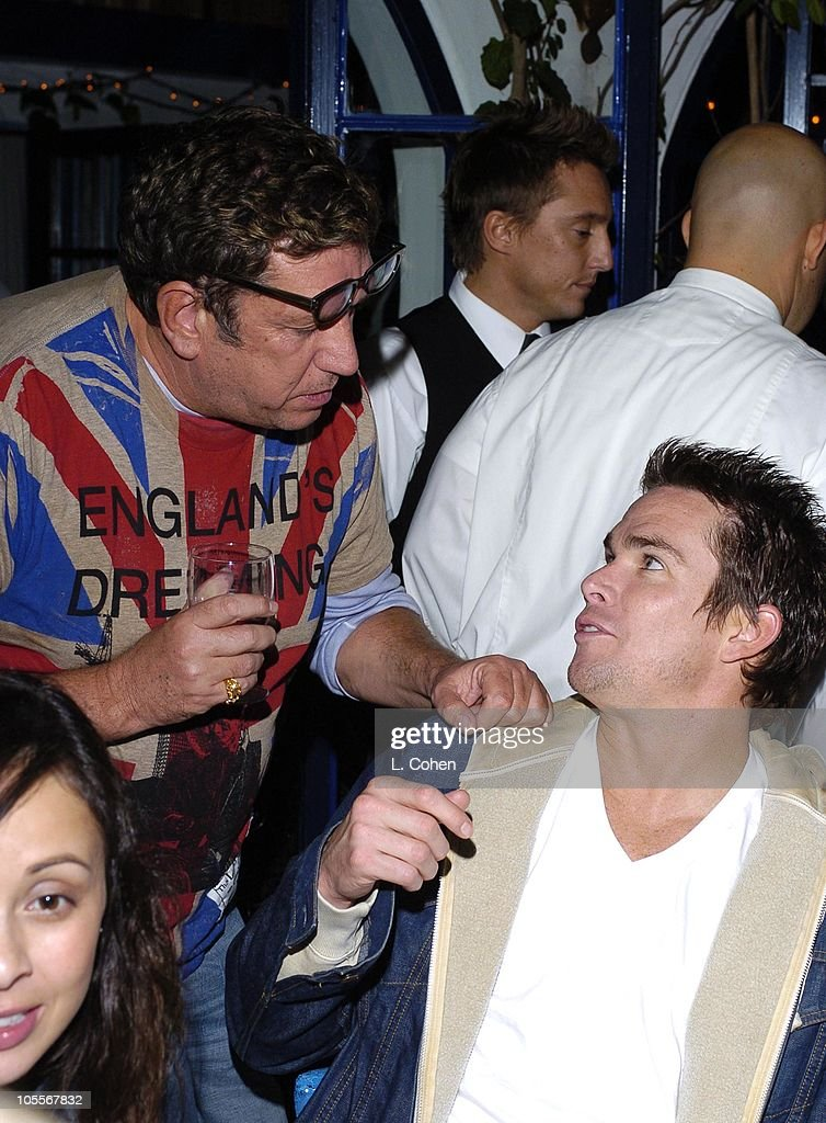 Steve Jones and Mark McGrath. Scott Weiland of Velvet Revolver and guests celebrate his birthday at a surprise party thrown by wife Mary Weiland The party was held in the midst of the band's U.S. concert tour in support of their platinum Contraband album.