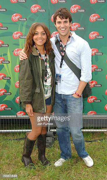 Steve Jones and Miquita Oliver in the Virgin Mobile Louder Lounge at the V Festival