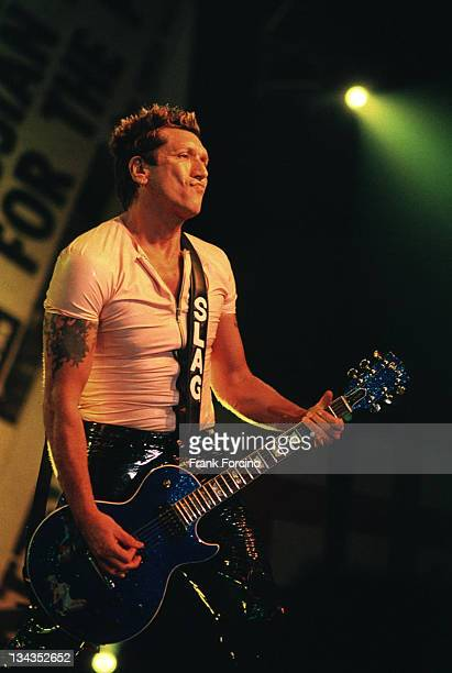 Steve Jones of Sex Pistols performs during Sex Pistols 'Filthy Lucre' Tour at Roseland Ballroom NY in August 1996 at Roseland Ballroom in New York...