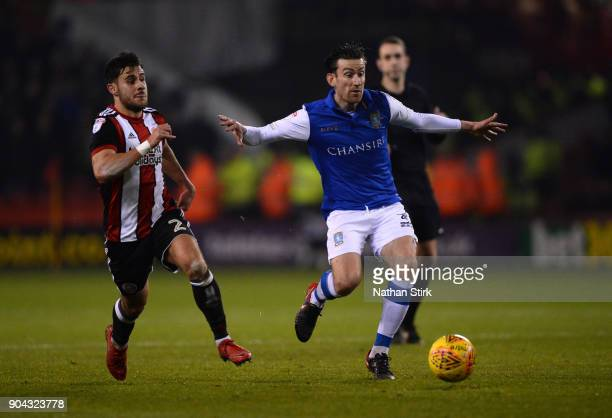 Steve Jones of Sheffield Wednesday in action during the Sky Bet Championship match between Sheffield United and Sheffield Wednesday at Bramall Lane...