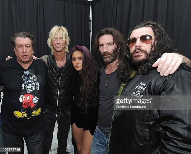 Steve Jones of The Sex Pistols Duff McKagan of Guns N Roses Jesse Jo Stark Sean Kinney of Alice in Chains and Ian Astbury of The Cult attend Designer...