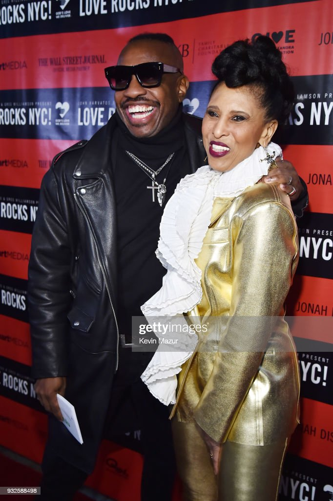 Steve Jordan and Nona Hendryx attend the Second Annual LOVE ROCKS NYC! A Benefit Concert for God's Love We Deliver at Beacon Theatre on March 15, 2018 in New York City.