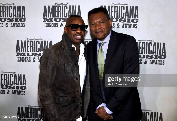 Steve Jordan and Robert Cray attend the 2017 Americana Music Association Honors Awards on September 13 2017 in Nashville Tennessee
