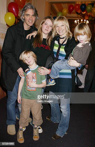 Steve Jude India Jo and Cas Whiley attend the aftershow party following The Magic Roundabout UK Charity Premiere at the New Connaught Rooms on...