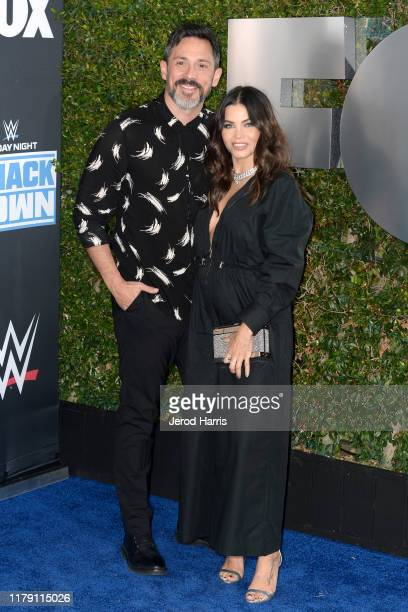 Steve Kazee and Jena Dewan attend WWE 20th Anniversary Celebration Marking Premiere of WWE Friday Night SmackDown on FOX at Staples Center on October...