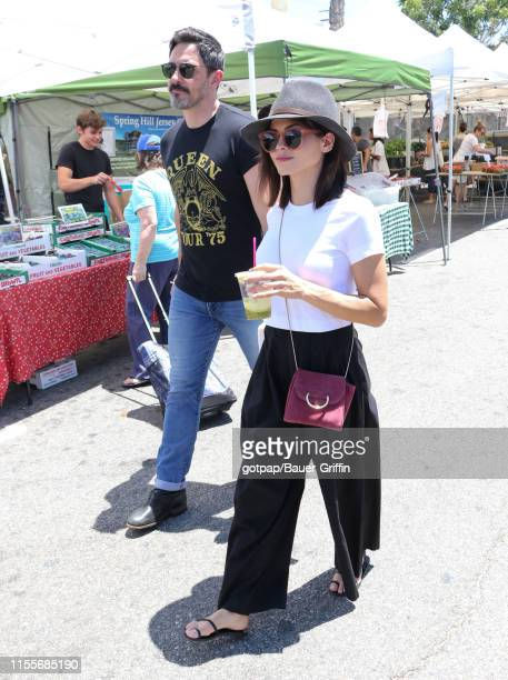 Steve Kazee and Jenna Dewan are seen on July 14 2019 in Los Angeles California