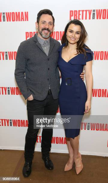 Steve Kazee and Samantha Barks attends the photo call for the New Broadway Bound Musical 'Pretty Woman' on January 22 2018 at the New 42nd Street...