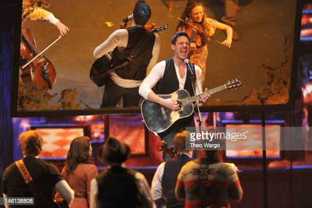Steve Kazee and the cast of 'Once' perform onstage at the 66th Annual Tony Awards at The Beacon Theatre on June 10 2012 in New York City