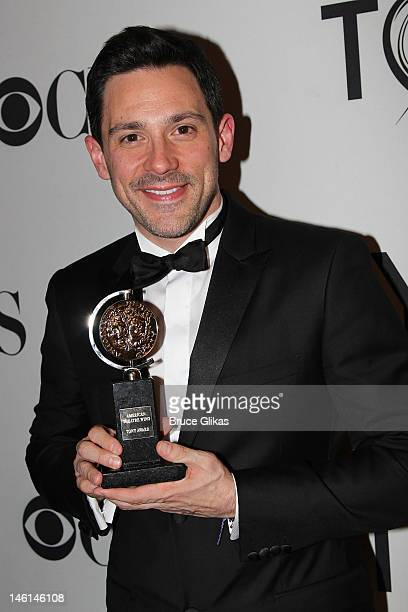 Steve Kazee winner Best Performance by a Leading Actor in a Musical for Once poses in the press room during the 66th Annual Tony Awards at the The...