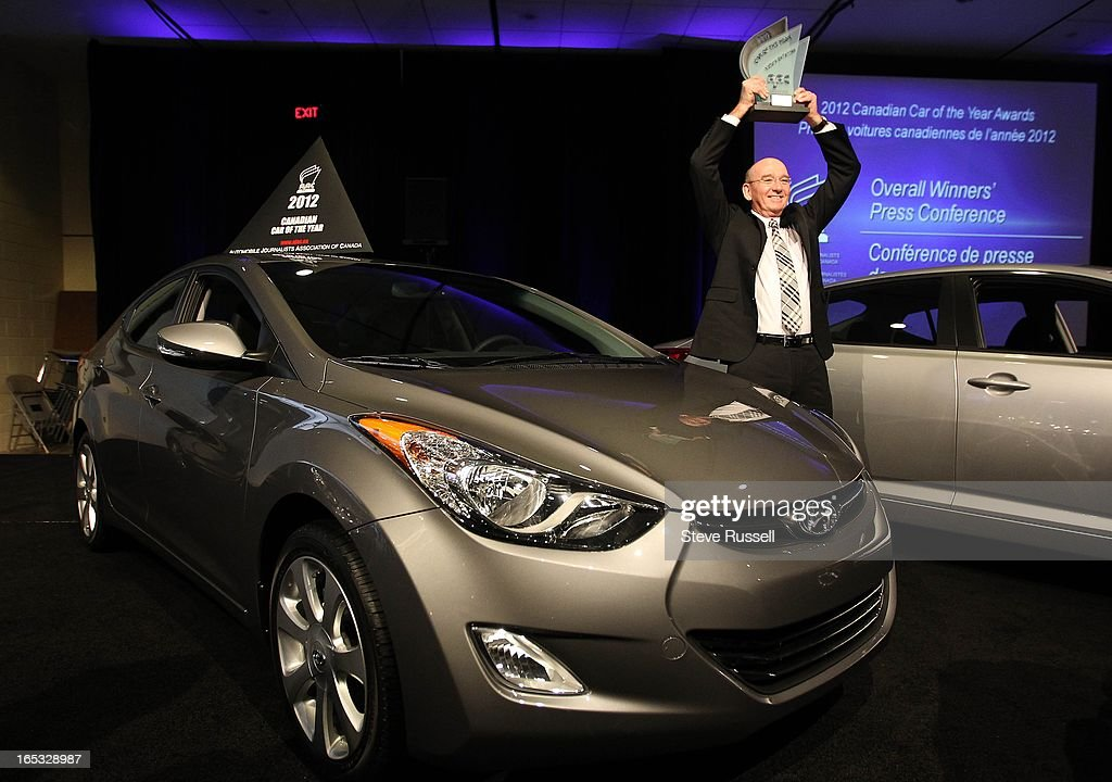 Steve Kelleher President And Ceo Hyundai Accepts The Award For Car