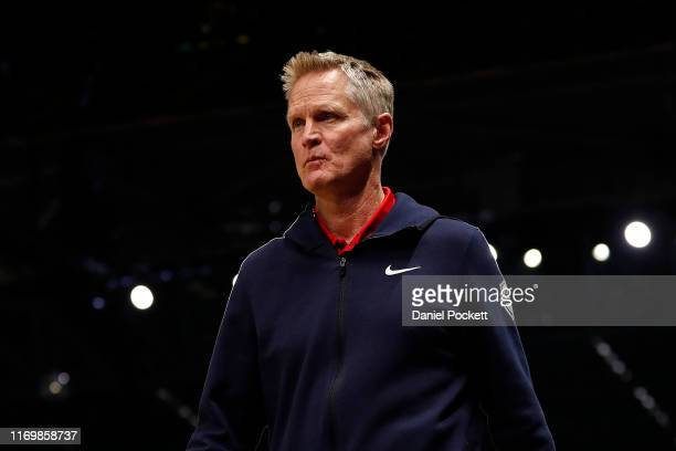 Steve Kerr Assistant Coach of the USA National Team during game two of the International Basketball series between the Australian Boomers and United...