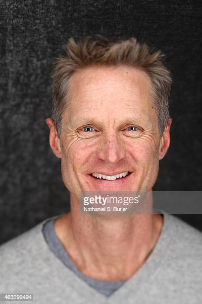 Steve Kerr of the Golden State Warriors poses for portraits during the NBAE Circuit as part of 2015 AllStar Weekend at the Sheraton Times Square...