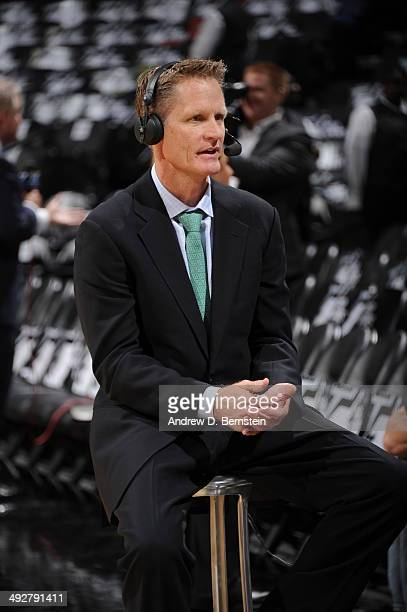 Steve Kerr TNT commentator before the game between the Oklahoma City Thunder and San Antonio Spurs in Game Two of the Western Conference Finals...