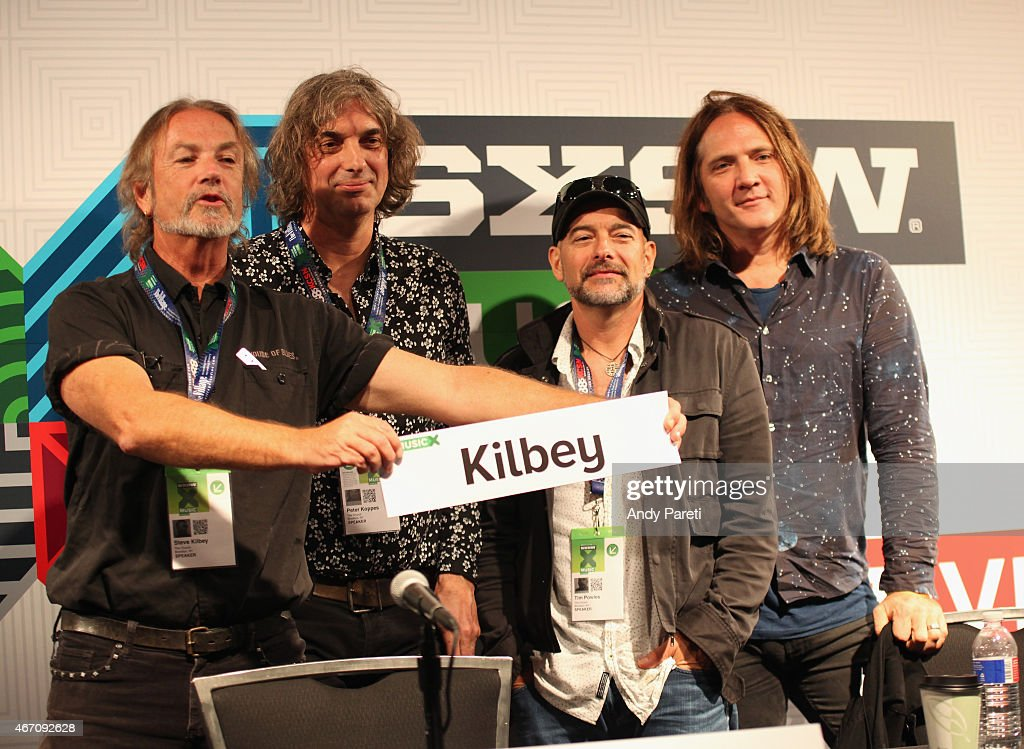 Steve Kilbey, Peter Koppes, Tim Powles, and Ian Haug attend 'SXSW Interview: The Church' during the 2015 SXSW Music, Film + Interactive Festival at Austin Convention Center on March 20, 2015 in Austin, Texas.