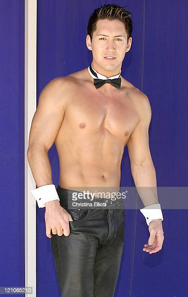 Steve Kim during Chippendales Calender 2005 Photo Shoot at Rio in Las Vegas Nevada United States