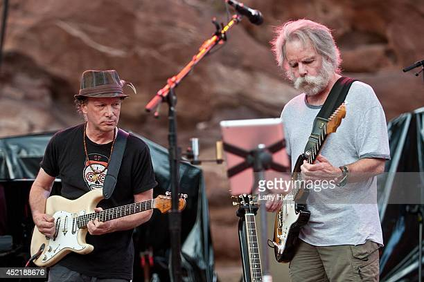 Steve Kimock and Bob Weir performing with 'Ratdog' at Red Rocks Amplitheater in Morrison Colorado on July 11 2014