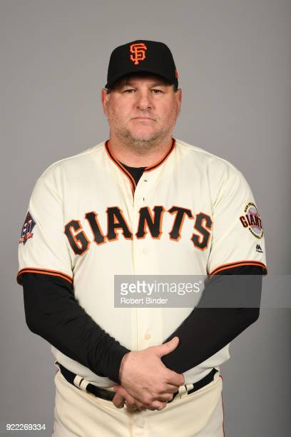 Steve Kline of the San Francisco Giants poses during Photo Day on Tuesday February 20 2018 at Scottsdale Stadium in Scottsdale Arizona