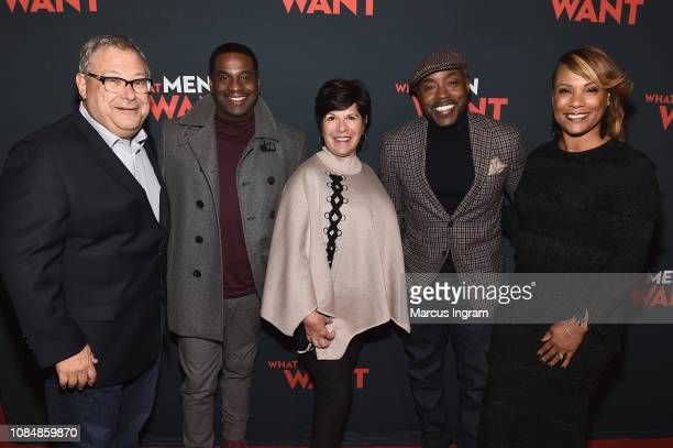 Steve Koonin James Lopez Will Packer and Heather Hayslett attend a special screening of 'What Men Want' at Regal Atlantic Station on January 18 2019...