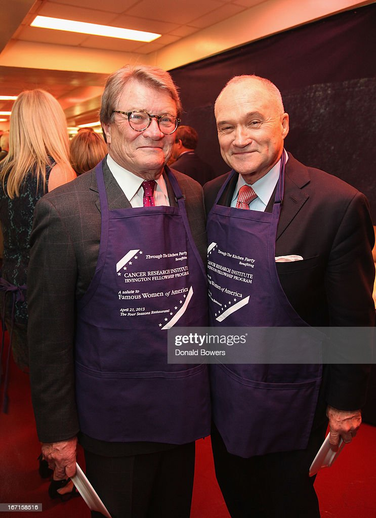 Steve Kroft and Ray Kelly attend The Through The Kitchen Party Benefit For Cancer Research Institute on April 21, 2013 in New York City.