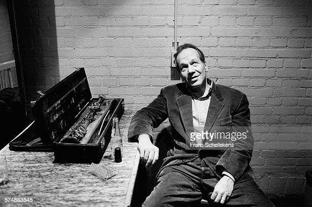 Steve Lacy soprano saxophone poses on February 26th 1994 at the BIM huis in Amsterdam the Netherlands