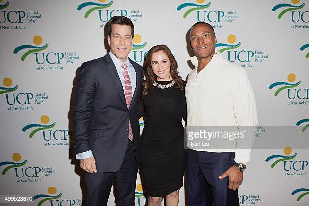 Steve lacy Teresa Priolo and Mike Woods attend the 6th Annual UCP Of NYC Santa Project Party and auction benefiting United Cerebral Palsy of New York...