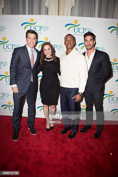Steve lacy Teresa Priolo Mike Woods and Javier Gomez attend the 6th Annual UCP Of NYC Santa Project Party and auction benefiting United Cerebral...