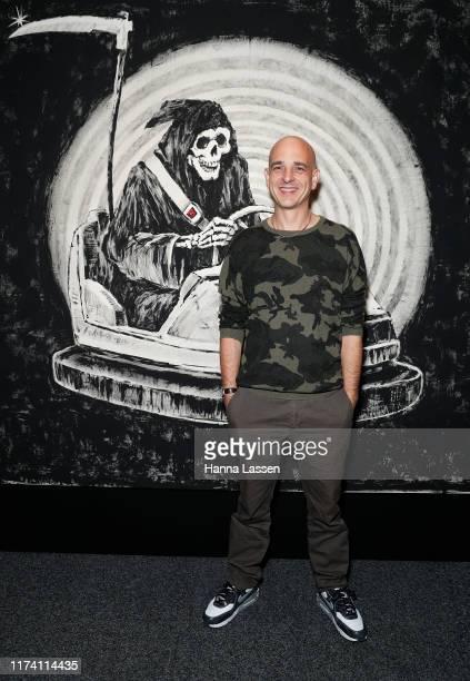 Steve Lazarides attends The Art of Banksy VIP preview on September 12, 2019 in Sydney, Australia.