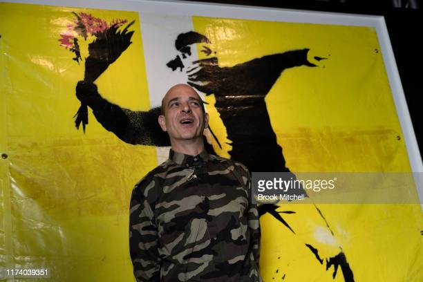 Steve Lazarides, Banksy's former agent, is pictured during a media preview for The Art of Banksy on September 12, 2019 in Sydney, Australia.