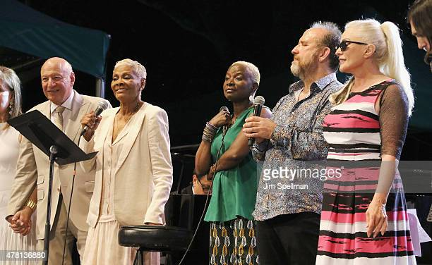 Steve Leber singers Dionne Warwick Angelique Kidjo Colin Hay Debbie Harry attend the City Parks Foundation Celebrates Thirty Years Of SummerStage at...