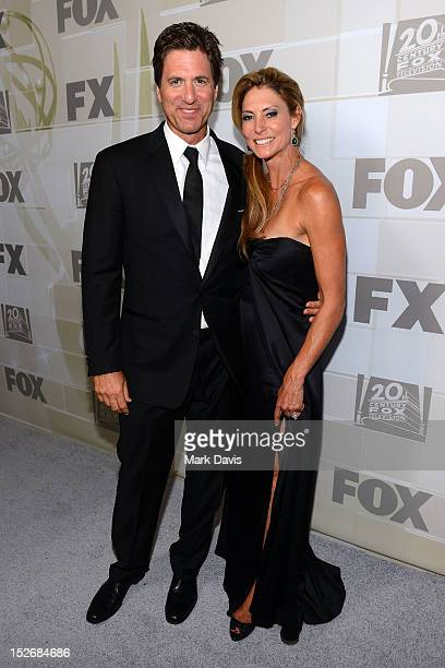 Steve Levitan and wife Krista arrive at FOX Broadcasting Company Twentieth Century FOX Television and FX post Emmy party at Soleto on September 23...