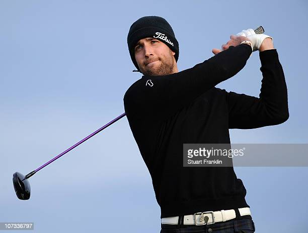 Steve Lewton of England in action during the continuation of the first round of the European Tour qualifying school final stage at PGA golf de...