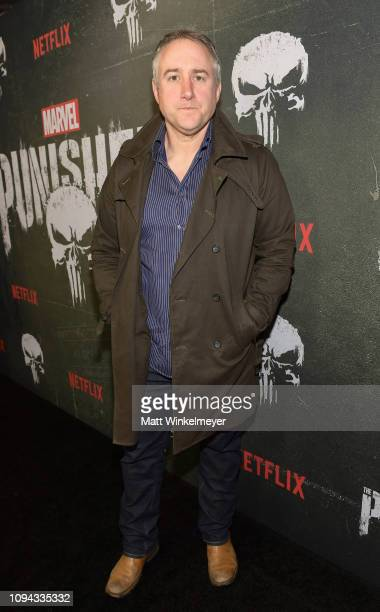Steve Lightfoot attends Marvel's The Punisher Los Angeles Premiere at ArcLight Hollywood on January 14 2019 in Hollywood California