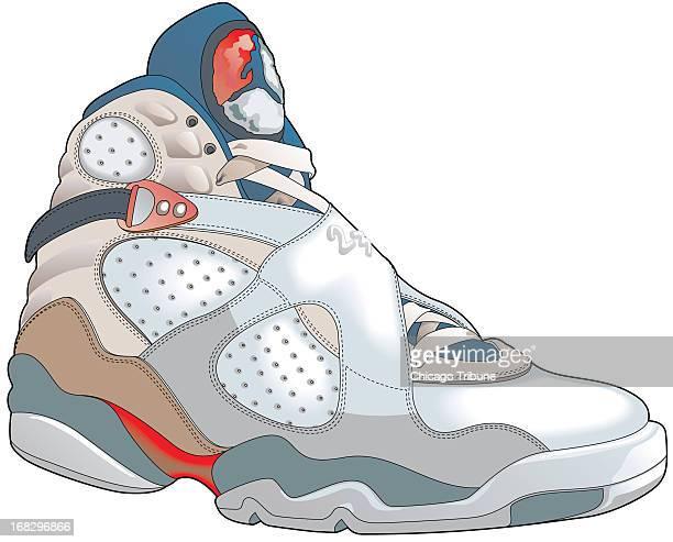 Steve Little and Martin Fischer illustration of basketball shoe specifically the Air Jordan basketball shoe