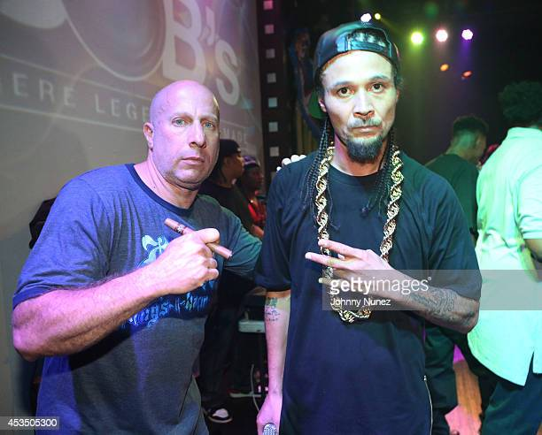 Steve Lobel and Bizzy Bone onstage at SOB's on August 11 2014 in New York City