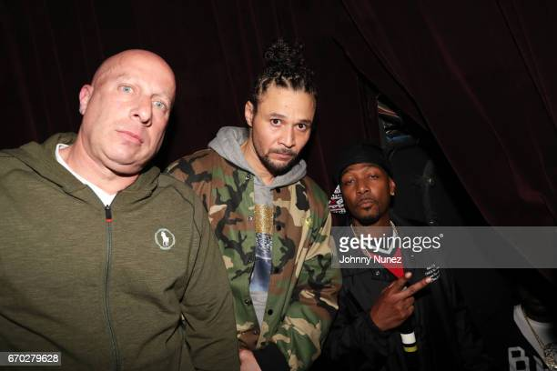 Steve Lobel Bizzy Bone and Krayzie Bone attend Pretty Lou's Birthday Charity Celebration Hosted By Fat Joe at Highline on April 18 2017 in New York...
