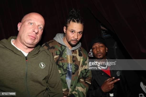 Steve Lobel Bizzy Bone and Krayzie Bone attend Pretty Lou's Birthday Charity Celebration Hosted By Fat Joe at Highline on April 18 2017 in New York...