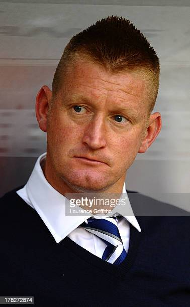 Steve Lomas of Millwall looks on during the Capital One Cup Second Round match between Nottingham Forest and Millwall at City Ground on August 28...
