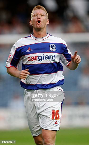 Steve Lomas of Queens Park Rangers in action against Leeds at Loftus Road in London on 8th August 2006